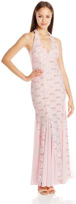 Jump Junior's Stretch Lace Halter Long Prom Dress