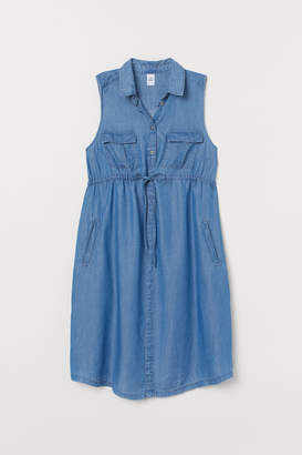 H&M MAMA Lyocell Dress - Blue