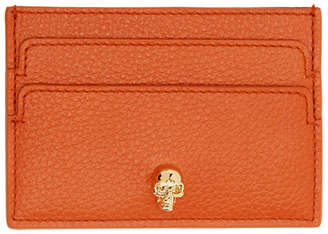 Alexander McQueen Orange Skull Card Holder