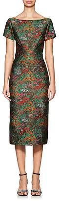 Zac Posen Women's Floral Cloqué Fitted Sheath Dress