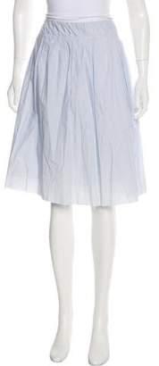 Organic by John Patrick Knee-Length Striped Skirt