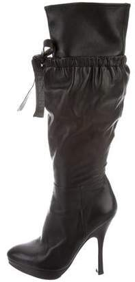 Prada Leather Platform Boots