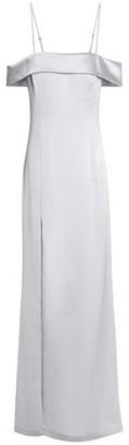 Halston Cold-Shoulder Satin-Crepe Gown