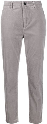 Closed tailored cord trousers