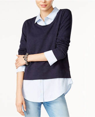 Tommy Hilfiger Layered-Look Sweater, Only at Macy's $79.50 thestylecure.com