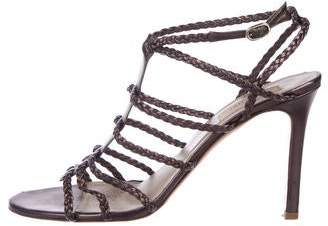 Valentino Leather Caged Sandals