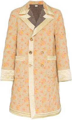Gucci Floral Print Quilted Coat