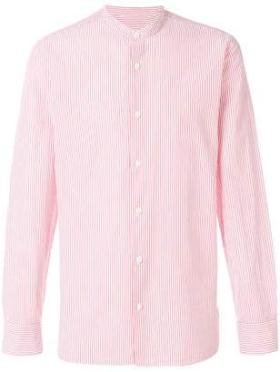 Ermenegildo Zegna striped collarless shirt