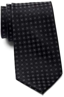 Calvin Klein Four Corner Grid Silk Tie