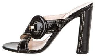 Prada Chloé Patent Leather Slide Sandals
