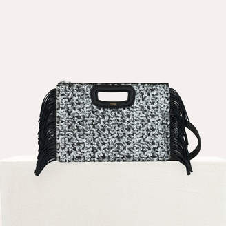 Maje M Duo clutch in sequined leather