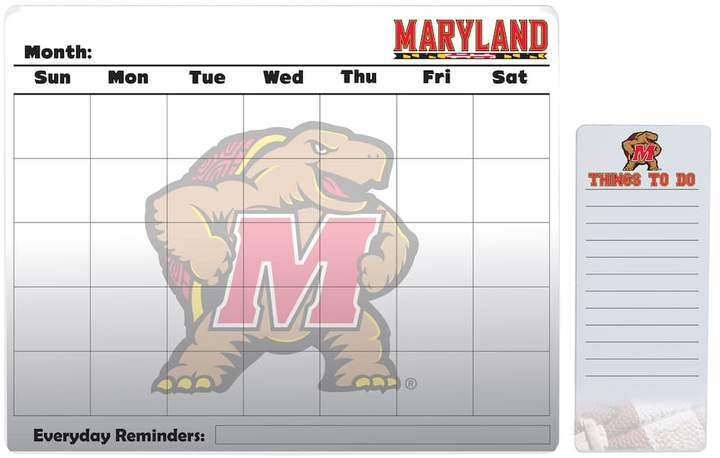 Kohl's Maryland Terrapins Dry Erase Calendar & To-Do List Pad Set