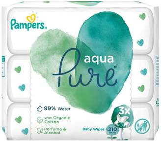 Pampers Pure Protection wipes, 3 pack, 70 Wipes