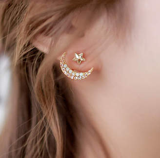DOSE of ROSE Star With Crescent Two Way Earrings