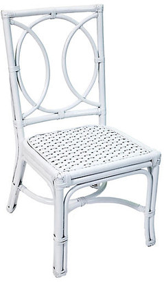 One Kings Lane Lauren Rattan Side Chair - White