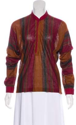 Gianni Versace Striped Knit Top