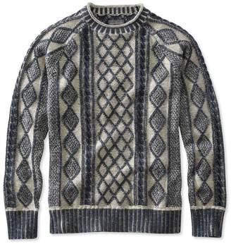 L.L. Bean L.L.Bean Signature Rollneck Fisherman Sweater, Plaited