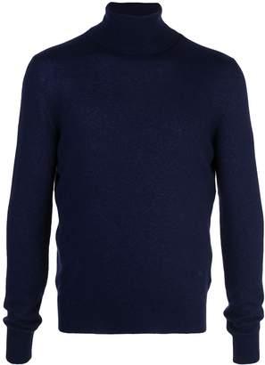 Isaia cashmere roll-neck sweatshirt