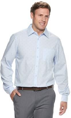Haggar Big & Tall Modern-Fit Woven Button-Down Shirt
