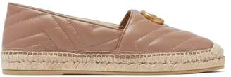 Gucci Pilar Gg Quilted Leather Espadrilles - Womens - Nude