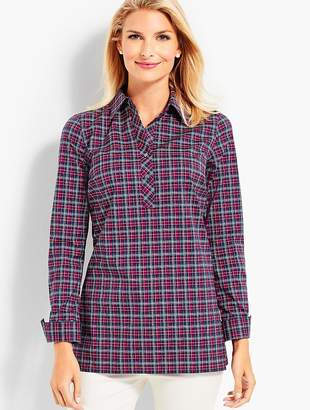 Talbots The Longer-Length Popover - Plaid