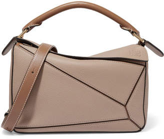 Loewe Puzzle Small Textured-leather Shoulder Bag - Sand