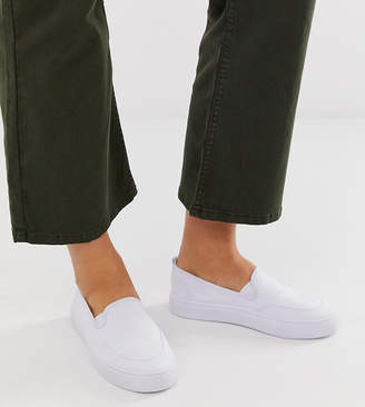 Dexter Asos Design ASOS DESIGN slip on plimsolls in white
