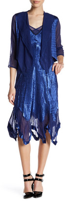 KOMAROV V-Neck Dress & Jacket (2-Piece Set) (Petite) $398 thestylecure.com