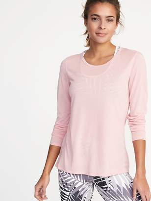 Old Navy Relaxed Mesh-Back Top for Women