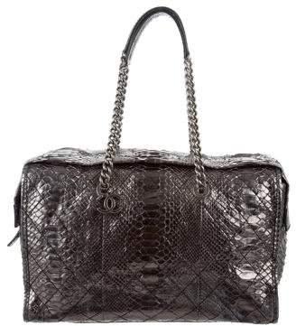 Chanel Metallic Python Shopper