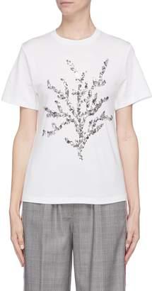 Oscar de la Renta Sequin graphic T-shirt