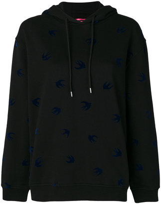 McQ Alexander McQueen swallow print hoodie $334.80 thestylecure.com
