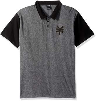 Zoo York Men's Landmark Short Sleeve Polo, Grey Heather