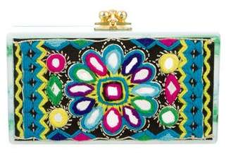 Edie Parker Jean Embroidered Clutch
