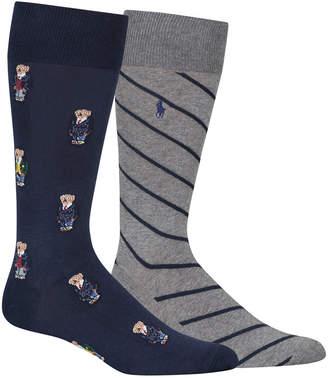 Polo Ralph Lauren Men's Big & Tall 2-Pk. Preppy Bears Socks