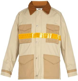 Junya Watanabe Reflective Strip Industrial Jacket - Mens - Beige