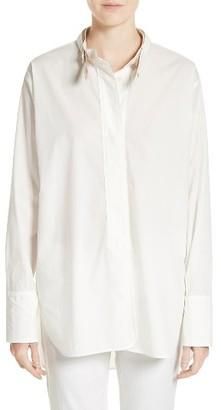 Women's Belstaff Brianne Cotton Poplin Shirt $595 thestylecure.com