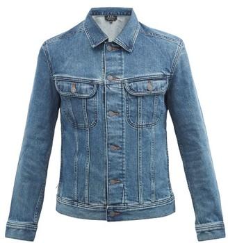 A.P.C. Washed Denim Jacket - Mens - Indigo