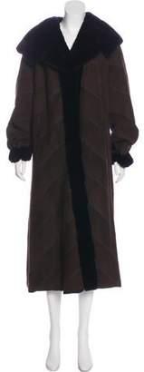 Neiman Marcus Suede Mink Coat