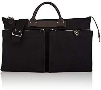 Felisi Men's Expandable Canvas Briefcase - Black