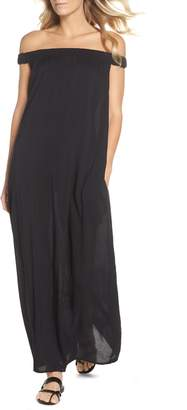 Elan International Off the Shoulder Cover-Up Maxi Dress