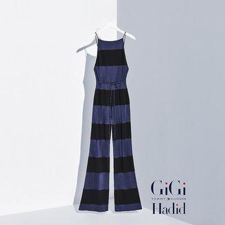 Tommy Hilfiger Viscose Striped Jumpsuit Gigi Hadid