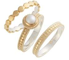 Anna Beck Pearl Set of 3 Stack Rings