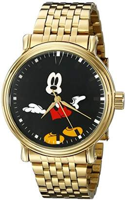 Disney Men's W001837 Mickey Mouse Analog Display Analog Quartz Gold Watch