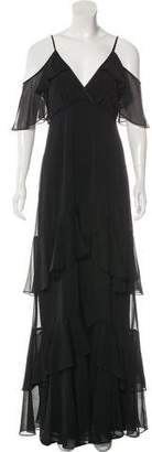 Erin Fetherston ERIN by Cold-Shoulder Ruffle-Trimmed Dress w/ Tags