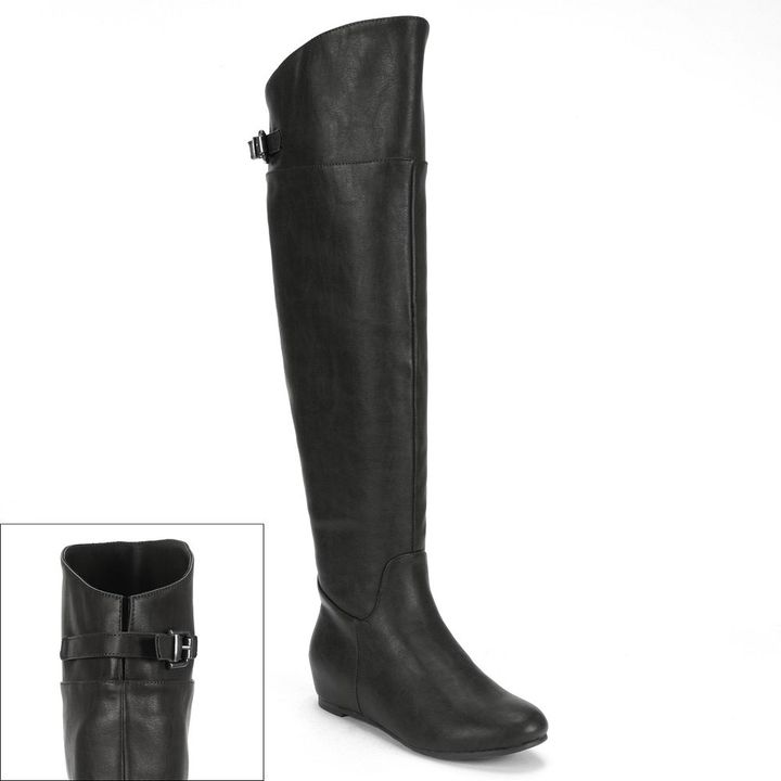 Elle TM over-the-knee wedge boots - women