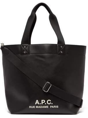 A.P.C. Logo Print Tote - Mens - Black