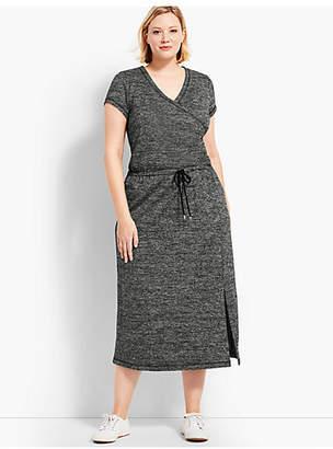 Talbots Marled Soft-Drape Jersey Drawstring-Waist Dress