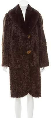 Lamb & Mink Fur Coat