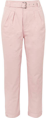 Paul & Joe Arsenios Cotton-twill Tapered Pants - Pink